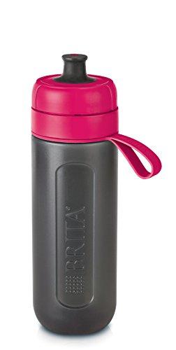 BRITA Wasserfilter-Flasche fill&go Active Pink – Robuste Sport Trinkflasche mit Wasserfilter für unterwegs aus BPA-freiem Kunststoff – Zusammendrückbar