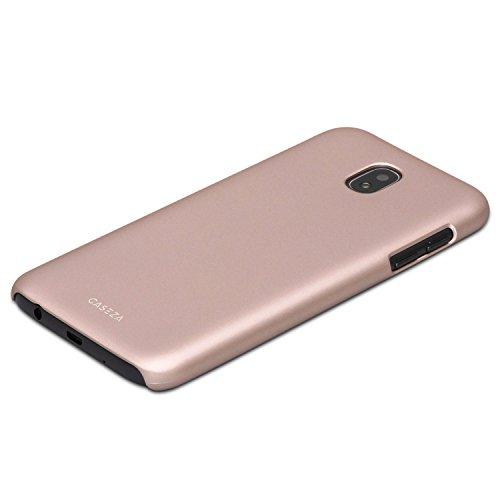 Cover iPhone X Nera - CASEZA Rio Custodia Case Posteriore Ultra Sottile con Finitura in Gomma Opaca - Protettiva Gommata Rigida - Aspetto e Sensazione di Qualità per iPhone X (5.8) Originale Oro Rosa Galaxy J5 2017