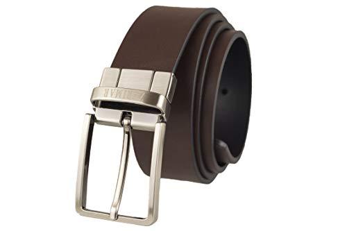 Zerimar Cinturón Piel de Hombre|Cinturón reversible | 3,5 cm Ancho | Cinturón Hombre Cuero | Cinturón Hombre Hebilla