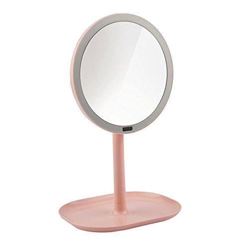 LY-LED Schreibtischlampen 7X Vergrößerungs Eitelkeit LED Licht Spiegel Make-Up Bewegungsmelder Spiegel 360 ° Rotation Rasierspiegel Infrarot Induktion, 002 (Make-up-eitelkeit-licht-spiegel)