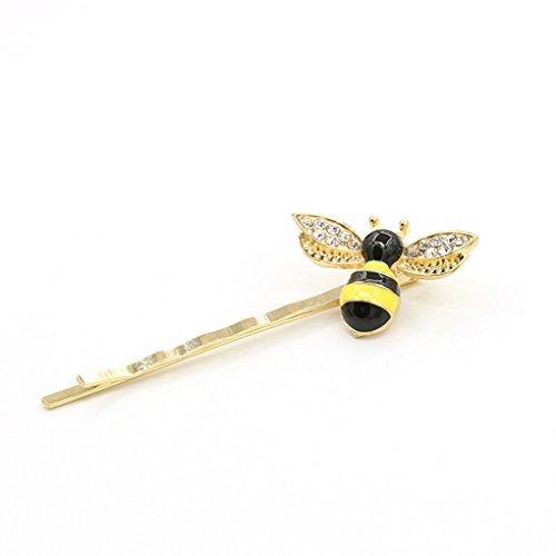 LUFA Fashion Brand Color Bee Hairpin Side Bangs Clip Word Folder Women Jewelry