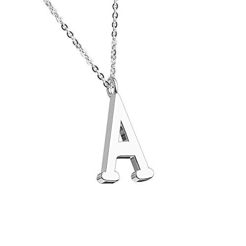 beyoutifulthings Halskette Anhänger BUCHSTABE A INITIALEN Kette Damen-Halskette Schmuck Collier Edelstahl Silber