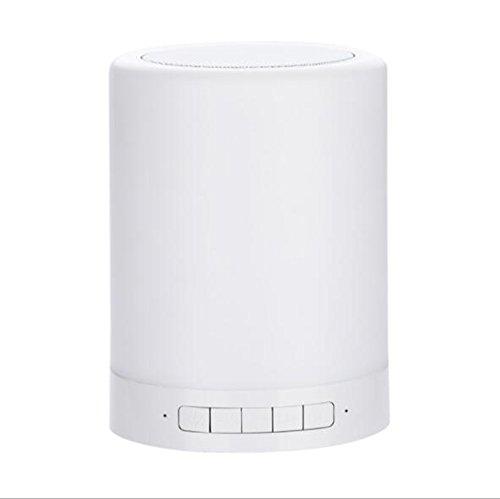 Mr. Fragile Tragbare Bluetooth Lautsprecher Nachtlicht, Kreative Lautsprecher Lade Musik Licht, LED Touch Bedroom Bedside Musik Tischlampe (Led-licht Tippen)