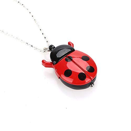 Rosepoem Taschenuhr Taschenuhr Mode Käfer Uhr Schmuck Anhänger Halskette Marienkäfer