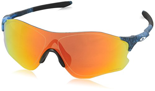 Oakley Herren Evzero Path 930822 38 Sonnenbrille, Blau (Aero Grid Sky/Prizmruby),