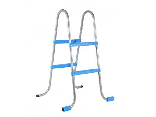 Piscinas Toi 4839 Escalera de 4 peldaños para Piscinas Desmontables, Blanco, 56x70x100 cm