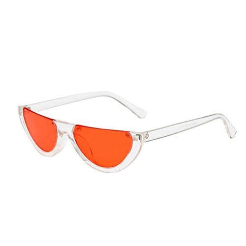 URSING Cateye Damen Sonnebrille Weiblich Mode Ultra Thin Ultra Light Mode Frame Weiblich Integrierte UV-Brille Vintage Retro Super Coole Brillenmode Sonnenbrillen Women Sunglasses (F) (Glas Integrierte)