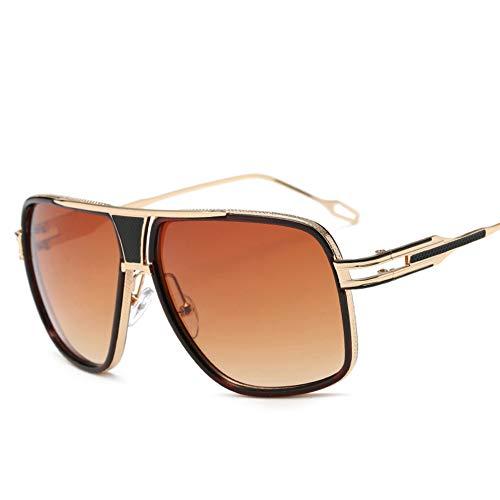 SJZC A09 Herren Sonnenbrille Polarized Light Metallrahmen Ultraleichte Mode Herren und Damen Unbreakable Rahmen Wandern, Outdoor, Fahren, Angeln, Golf,Orange