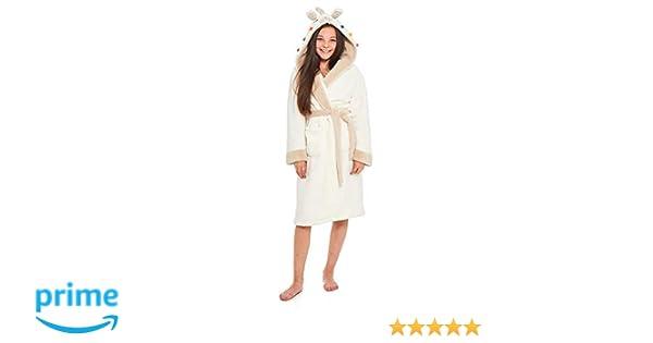4e5394e1ff60d Slumber Hut® Filles Lama Robe de Chambre Polaire Luxe Chaud Enfants  Vêtement de Nuit Détente Capuche - 7-8 Ans: Amazon.fr: Vêtements et  accessoires