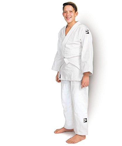 Judogi club 450g/m2 green hill kimono judo gi brazilian ju jitsu unisex (bianco, 160 slim fit)