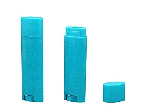 Leerer, nachfüllbarer Kunststoff-Behälter für Lippenstift, Lippenbalsam, Lip-Gloss, Tube, Halterung, Container, Deodorant, Crayon, Röhre Lippenpflege, Flasche, Hülle, oval, 4,5g