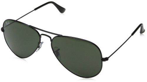 ray-ban-unisex-sonnenbrille-aviator-gr-large-herstellergrosse-58-schwarz-gestell-schwarz-glaser-grau