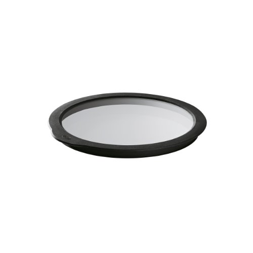 RÖSLE Frischhaltedeckel Ø 8 cm, Glas mit rundumlaufenden Silikonrand, spülmaschinengeeignet