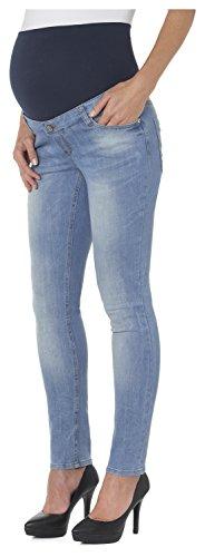 ESPRIT Maternity Damen Slim Umstands Jeans O8C009, Gr. 36 (Herstellergröße: 36/32), Blau (Stonewash 930) -