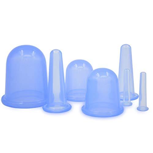 Kapmore 7PCS Cupping Therapy Set Traitement du visage et du corps professionnel Silicone Coupe en silicone