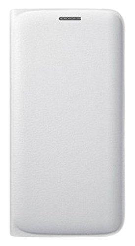 Samsung Flip Wallet Schutzhülle (PU Leder, mit Kreditkartenfach, geeignet für Galaxy S6 Edge) weiß (Samsung Galaxy S6 Wallet Case)