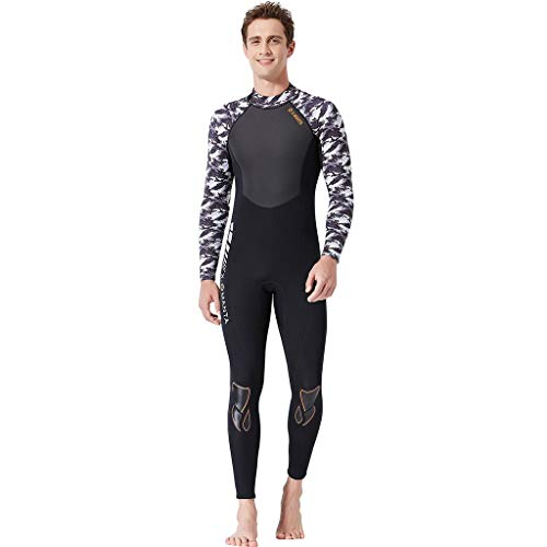 LOPILY Neoprenanzug Badeanzüge Damen Herren Schnelltrocknend Sonnenschutz Wassersport Anzug Wakeboarding Surfbekleidung Taucheranzug Anti-UV Badebekleidung(X1-Schwarz,2XL)