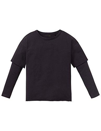Schiesser Jungen Schlafanzugoberteil Mix & Relax Shirt 1/1, Grau (Anthrazit 203), 152 (Herstellergröße: S)
