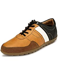 Sir Corbett Men's Tan Synthetic Casual Sneakers Shoes