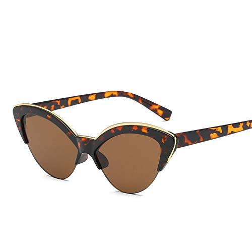 YLNJYJ Sonnenbrillen Kaleidoskop Brille Frauen Cat Eye Sonnenbrille Half Frame Transparente Farbe Sonnenbrille Weiblich Blau Gelb Cateye Eyewear Uv400