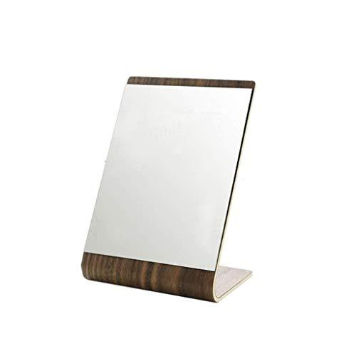 RMXMY Einfacher Massivholz Tragbarer ke Desktop-Kosmetikspiegel Faltbarer HD-Home-Ständer für den persönlichen Gebrauch, Reisen (Farbe : B)