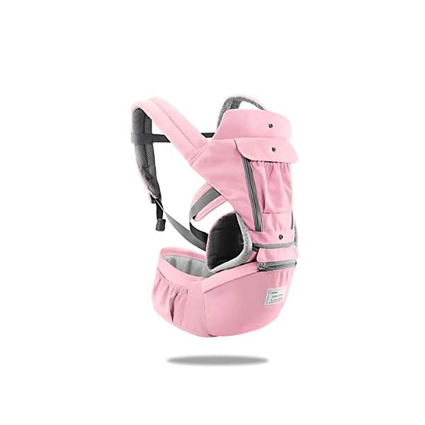 SONARIN 3 in 1 Multifunction Hipseat Baby Carrier,Front and Back,100% Cotton,Ergonomic,Easy Mom,Adapted to Your Child's Growing, 100% Guarantee and Free DELIVERY,Ideal Gift(Pink) SONARIN Applicable age and Weight:0-36 months of baby, the maximum load:36KG, and adjustable the waist size can be up to 47.2 inches (about 120 cm). Material:designers carefully selected soft and delicate Cotton fabric. Resistant to wash, do not fade, ensure the comfort and breathability, Inner pad: EPP Foam,high strength,safe and no deformation,to the baby comfortable and safe experience. Description:Scientific 35°, the baby naturally fits the mother's body, safe and comfortable.Patented design of the auxiliary spine micro-C structure and leg opening design, natural M-type sitting.H-type bridge belt, effectively fixed shoulder strap position, to prevent shoulder straps fall, large buckle, intimate design, make your baby more secure. 1