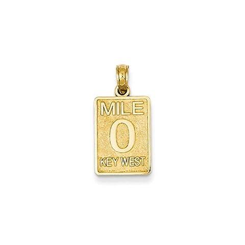 Black Bow Jewellery Company : Key West Mile Marker Pendant