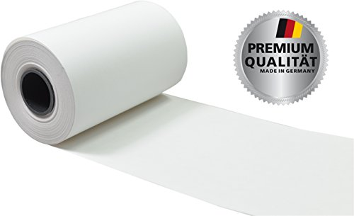 50 EC Thermorollen unbedruckt 57mm x 9m x 12mm Rollendurchmesser 30mm, Thermopapierstärke 55g/m2, ohne Aufdruck