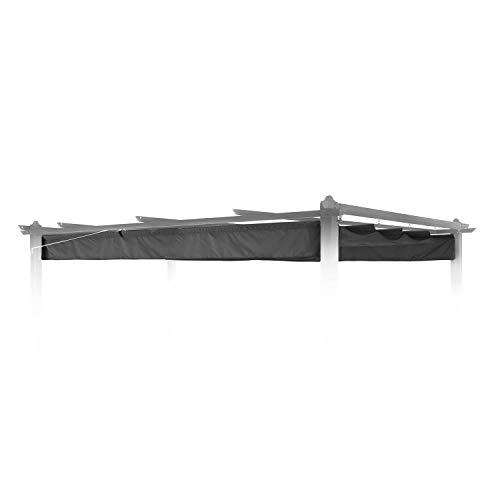 blumfeldt Pantheon Roof Pergola-Dach Ersatz-Dach Sonnendach (3 x 4 m, witterungsbeständig, wasserabweisend, passgenau für Pantheon Pergola) grau