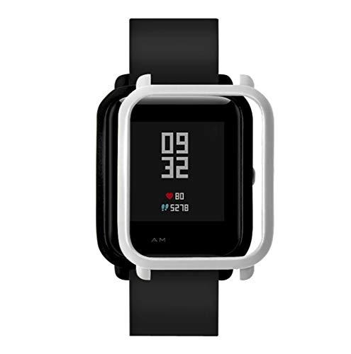 JiaMeng para Xiaomi MI la Caja de Reloj,La Cubierta de la Caja de Reloj la PC de la Manera Protege la c¨scara para el Reloj de Xiaomi Huami(Plata,Tama?o Libre)