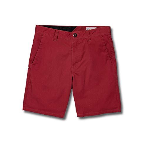 Volcom-chino (Volcom Herren Frickin Mdrn Stch 19 Shorts-Chino, Burgundy, 33)