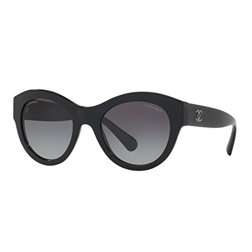 Chanel ch5371 c501s6 occhiale da sole nero black sunglasses sonnenbrille donna