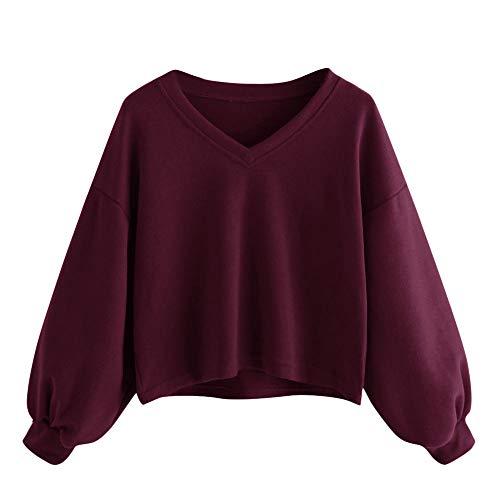 FeiBeauty 2018 Damen-Normallack-Lange Hülsen-Kasten-Buchstabe-Applikations-runde Kragen-Rollkragen-Sweatshirt-Jacke (Jacke Hollister Jeans)