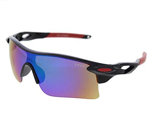 Vast UV Protection Unisex Sport Sunglasses (9181C8 Mirror Lens) )...