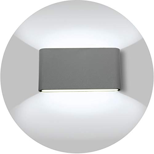 Topmo-plus 12w LED Lámpara pared corredor diseño / apliques pared balcón IP65 / OSRAM SMD / moderno...