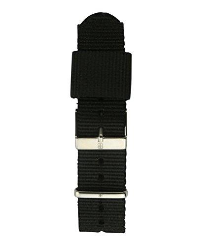 Byron Bond Ersatz-Armband - NATO - 20mm Breit - Silberner Verschluß