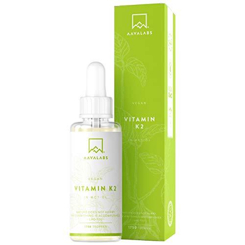 Natürliche Vitamin K2 Tropfen - 33,5 mg pro Tropfen - 1000 Tropfen - MK-7 mit MCT - Unterstützt normale Knochen - nordische Reinheit - glutenfrei & vegan - laborgeprüft