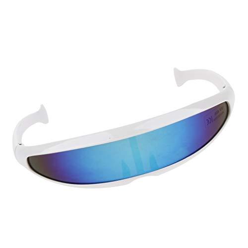 Baoblaze Herren verspiegelt Sonnenbrille Sportbrille Schutzbrille Arbeitsbrille für Alltag Reise Sport - 02