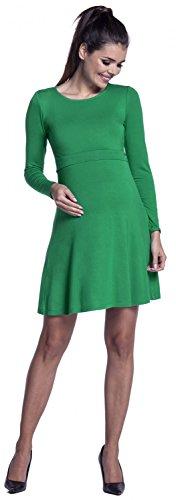 Zeta Ville – Stillen A-Linie Kleid Schwangere Rundhalsausschnitt – Damen – 128c (Grün) - 6