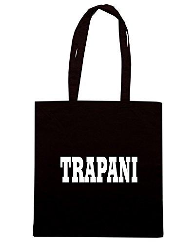 T-Shirtshock - Borsa Shopping WC0946 TRAPANI SICILIA ITALIA CITTA STEMMA LOGO Nero