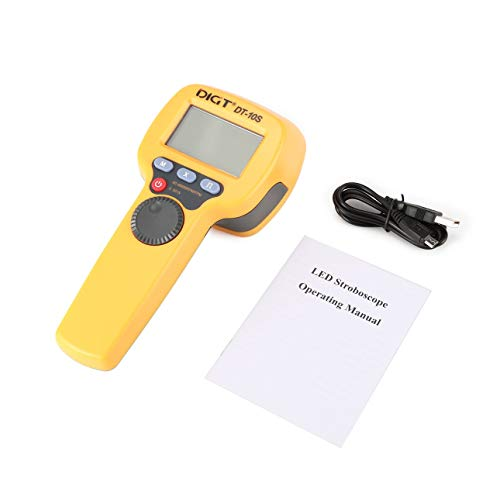 Pudincoco digt DT-10S 7,4V 2200mAh 60-99999 Stroboskope/min 1500Lux Griffs-LED Stroboskop Drehzahlmessung Flash-Velocimeter