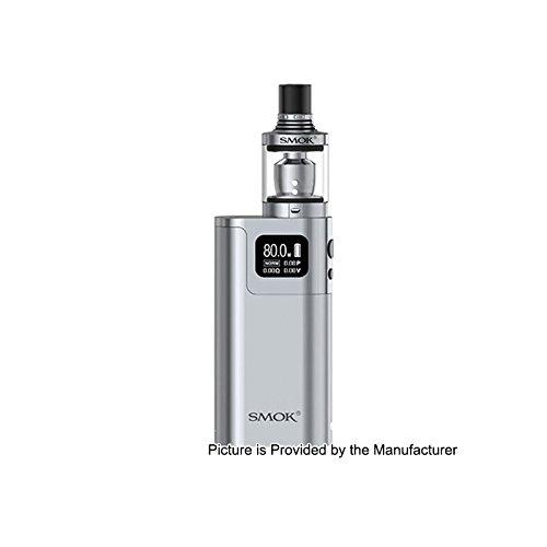 GENUINE SMOK G80 KIT (Silver) w/ SPIRALS Tank E-Cigarette 2mL