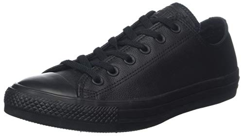 Converse Chuck Taylor Ct As Ox Leather, Scarpe da Fitness Unisex-Adulto, Nero (Black Mono 001), 43 EU