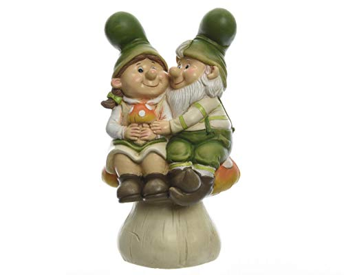 Direct Global Trading Cute Gnome Couple on Toadstool Garden Ornament