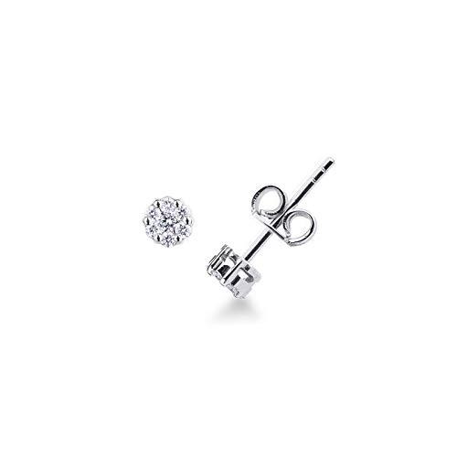 Orecchini in Oro Bianco 18k con pavè in Diamanti.