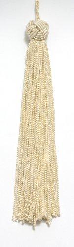 Set von 10creme Farbe gewebt Head Chainette Quaste, 14cm lang mit 5,1cm Loop, Basic Rand Collection Stil # bh055Farbe: cremefarben/elfenbeinfarben-A2 -