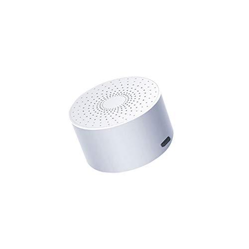 TJMWL Smart Bluetooth-Lautsprecher HD Audio Drahtloser Sprachsteuerungslautsprecher Freisprechanruf Heim-, Außen-, Reiselautsprecher,White (Smart-tv-enhancer)