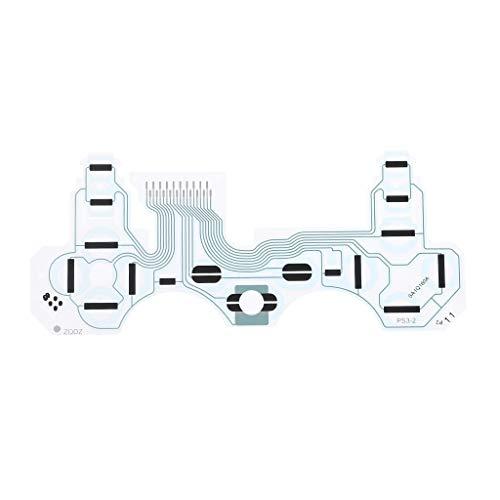 ZOUCY Folienfilm Button Ribbon Conductive Keyboard Flex PieceB SA1Q160A Ersatz für PS3 Playstation 3 Vibration Griff Controller Zubehör