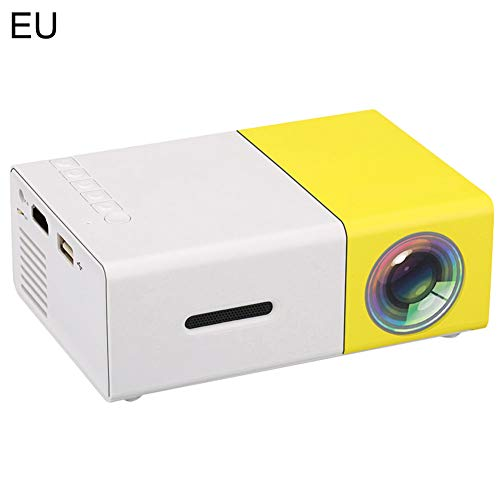 Sguan-wu YG300 HD 1080P HDMI USB 3,5-mm-Klinke Mini-LCD-Projektor Kino-Media-Player - EU-Stecker gelb