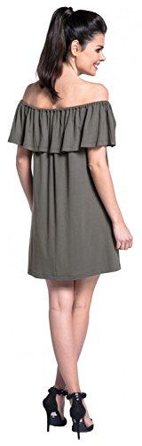 Zeta Ville - Stillen Zweilagiges Kleid Off-Schultern Schwangere - Damen - 624c Khaki
